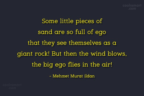 Ego Quote: Some little pieces of sand are so...