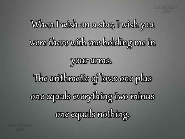 Quote: When I wish on a star, I...