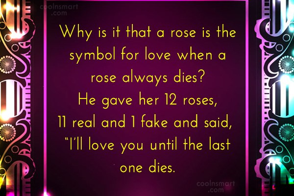 Quote: Why is it that a rose is...
