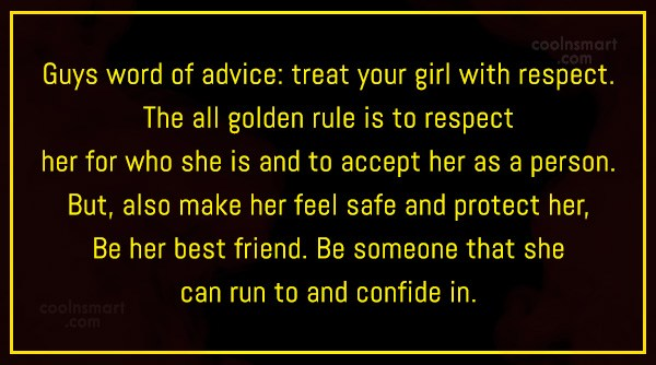 Quote: Guys word of advice: treat your girl...
