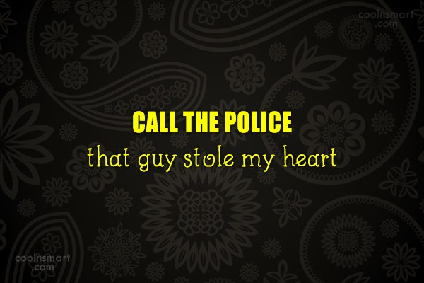 Quote: CALL THE POLICE that guy stole my...