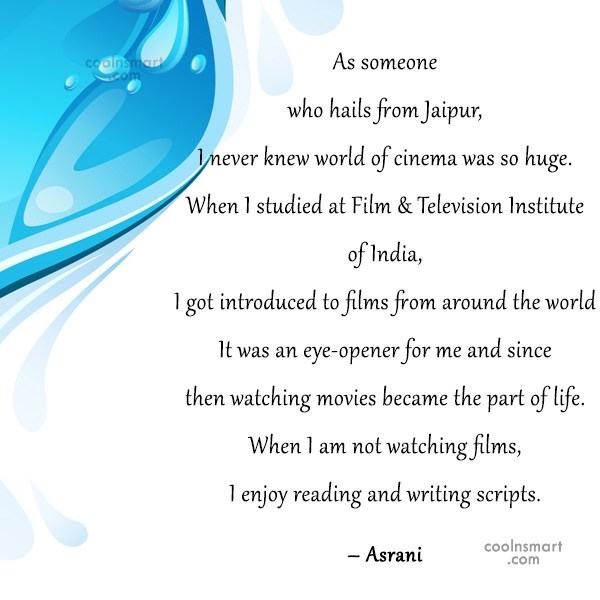 Quote: As someone who hails from Jaipur, I...