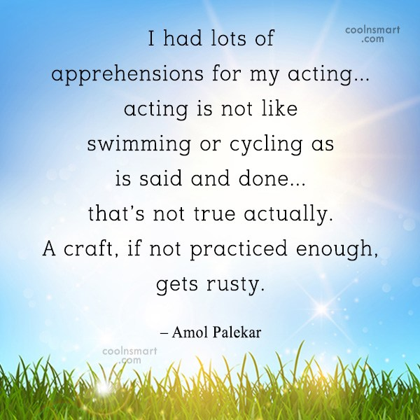 Quote: I had lots of apprehensions for my...