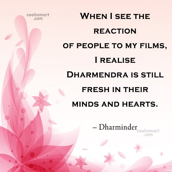 Quote: When I see the reaction of people...