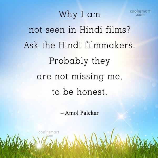 Quote: Why I am not seen in Hindi...