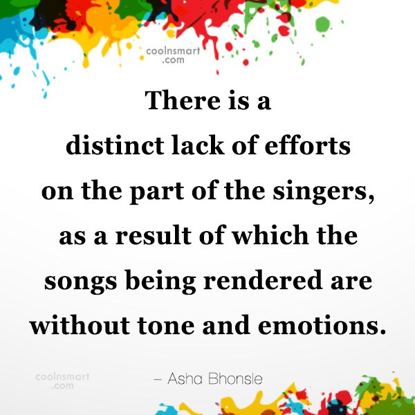 Quote: There is a distinct lack of efforts...