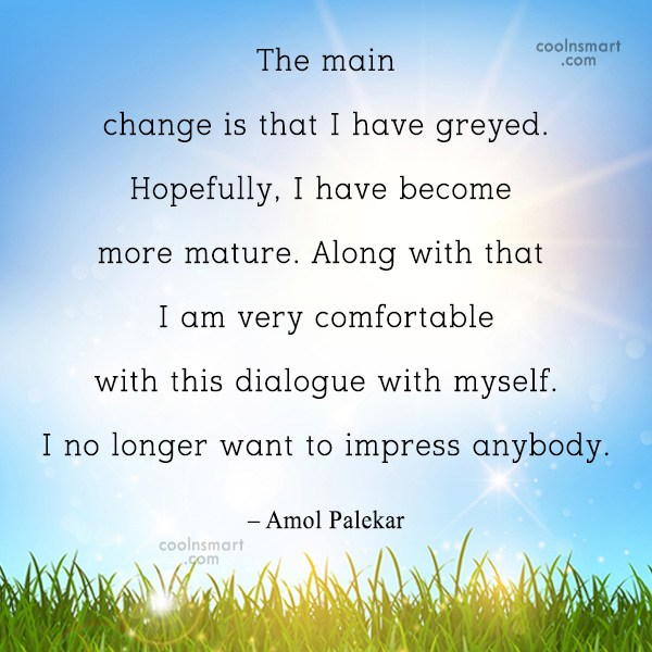 Quote: The main change is that I have...