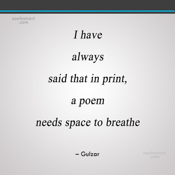 Quote: I have always said that in print,...