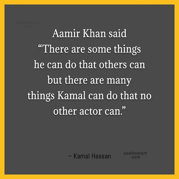 """Miscellaneous Quote: Aamir Khan said """"There are some things..."""