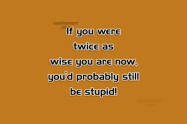 Images Quote: If you were twice as wise you...