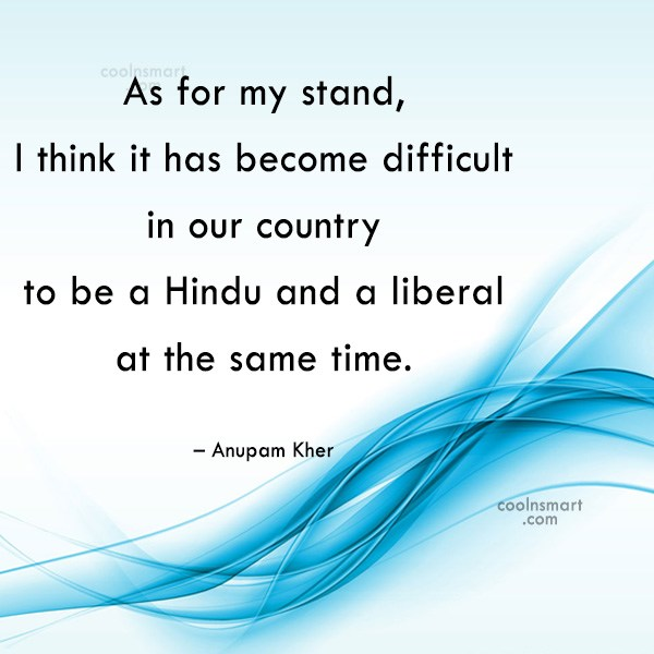 India Quote: As for my stand, I think it...