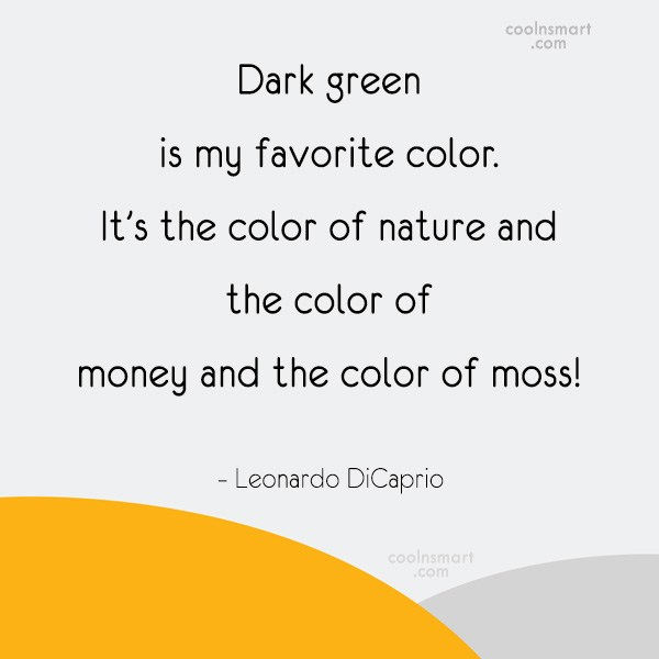 Dark green quotes