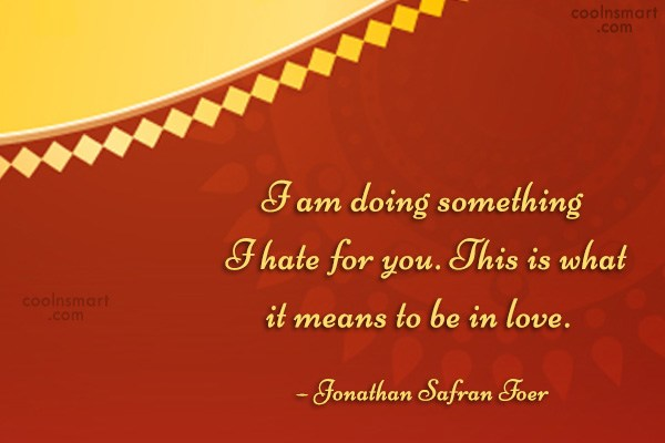 Quote: I am doing something I hate for...