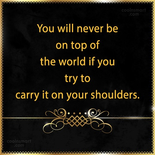 Quote: You will never be on top of...