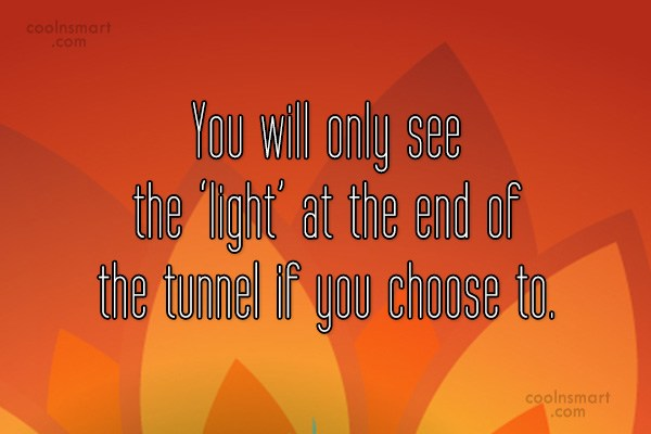 Quote: You will only see the 'light' at...
