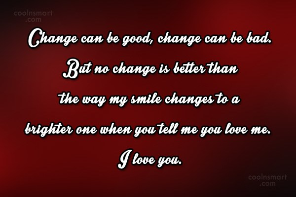 Quote: Change can be good, change can be...