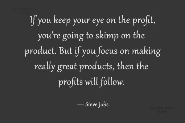 Quote: If you keep your eye on the...
