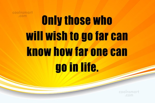 Quote: Only those who will wish to go...