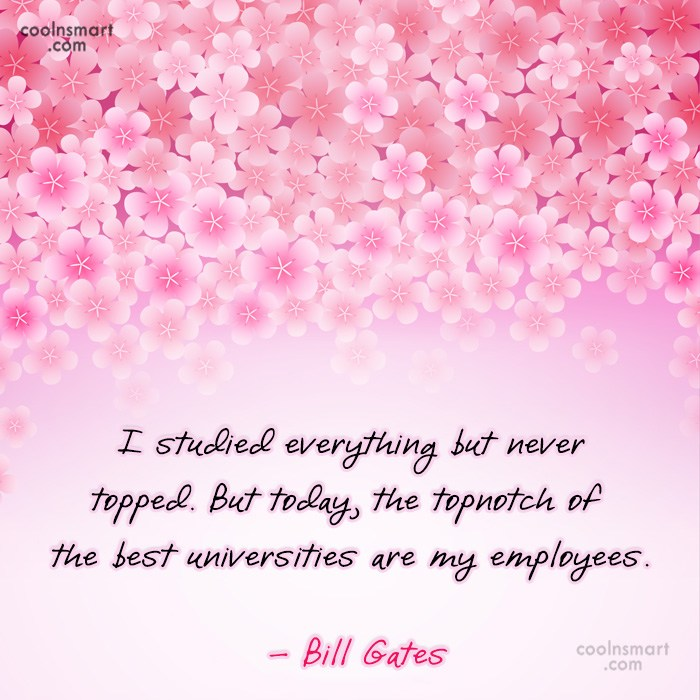 Quote: I studied everything but never topped. But...