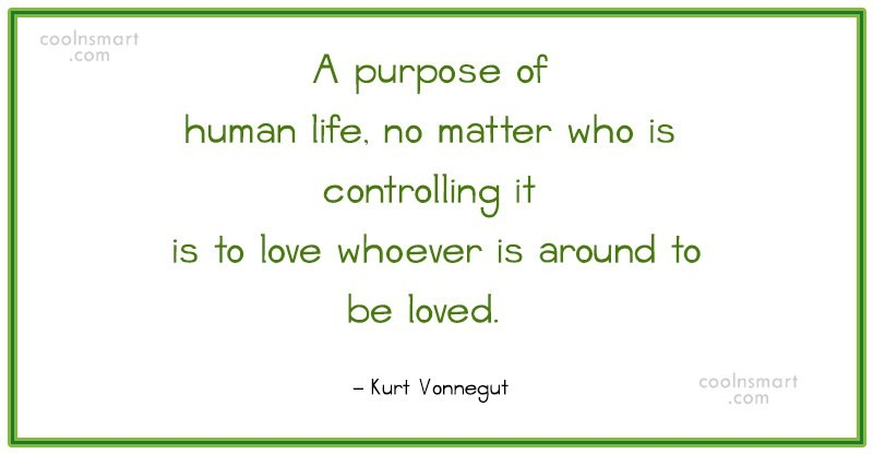 Quote: A purpose of human life, no matter...