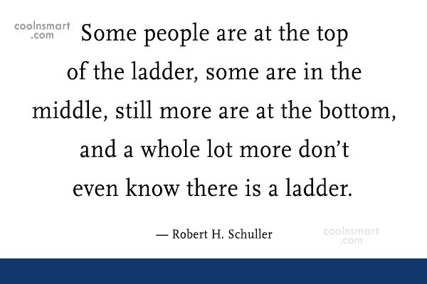 Quote: Some people are at the top of...