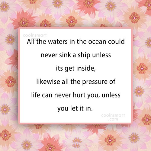 Quote: All the waters in the ocean could...