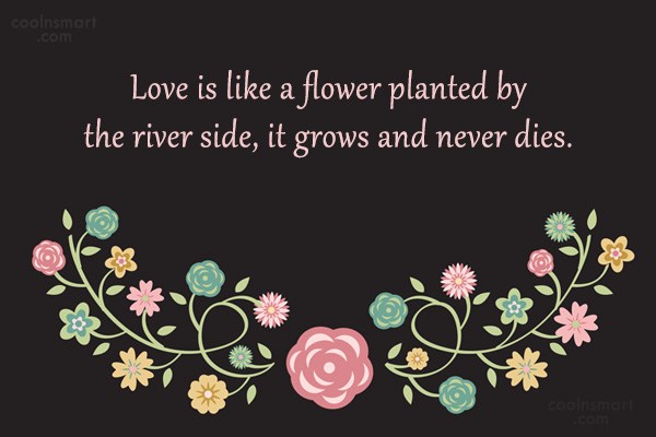 Quote: Love is like a flower planted by...