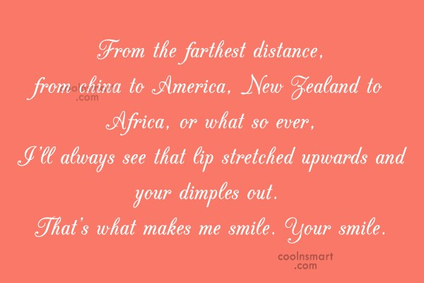 Quote: From the farthest distance, from china to...