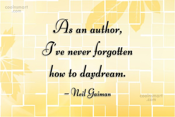 Quote: As an author, I've never forgotten how...
