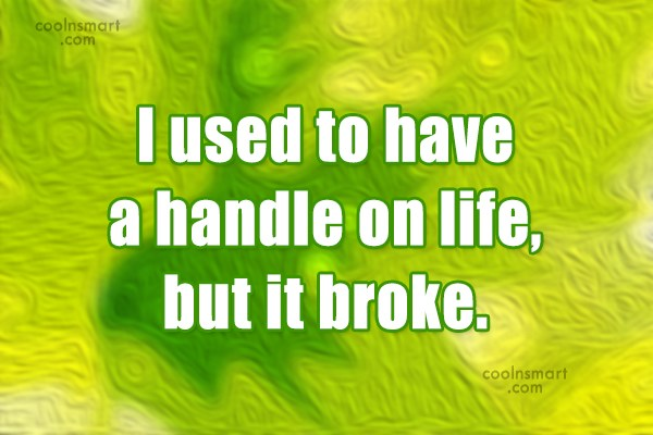 Stupid Quote: I used to have a handle on...
