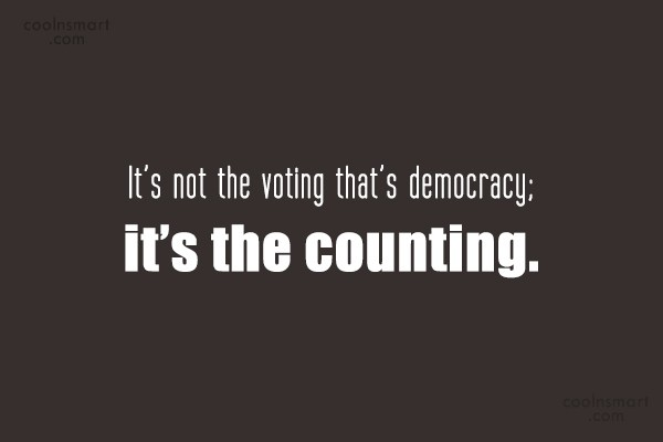 to vote or not to vote hurdles of democracy Historically, the biggest problem was that it was not possible to  this is the core  property of delegative democratic voting and is a must have  and there are  many other technical and social hurdles before we even start that.