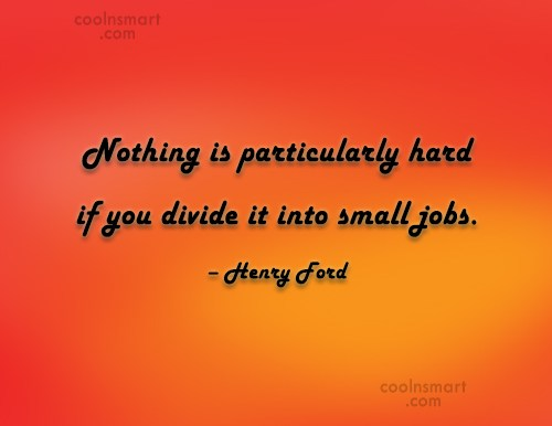 Quote: Nothing is particularly hard if you divide...