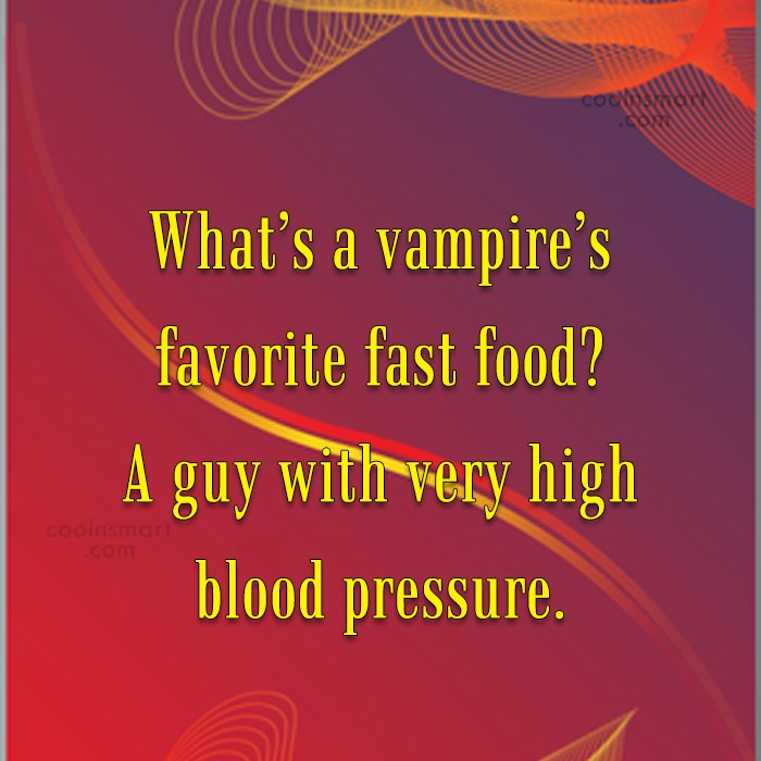 Obesity Quote: What's a vampire's favorite fast food? A...