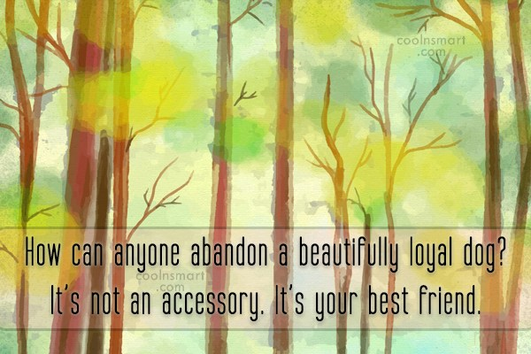 Images Quote: How can anyone abandon a beautifully loyal...
