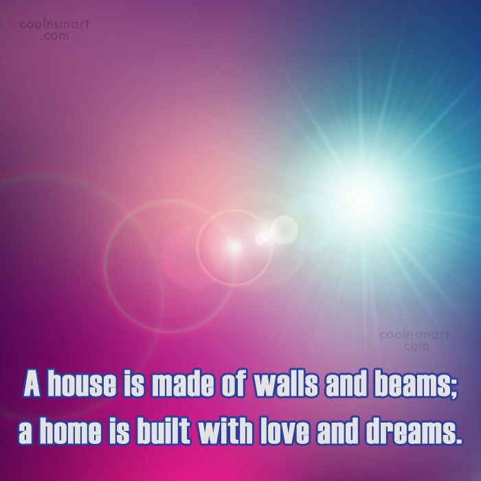 Home Quote: A house is made of walls and...