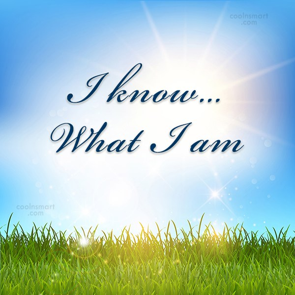 Quote: I know… What I am