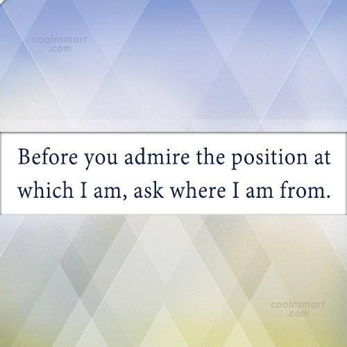 Quote: Before you admire the position at which...