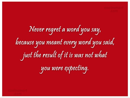 Regret Quotes and Sayings - Images, Pictures - Page 2