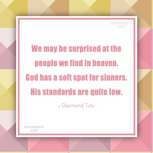 Quote: We may be surprised at the people...
