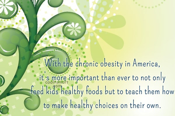 Obesity Quote: With the chronic obesity in America, it's...