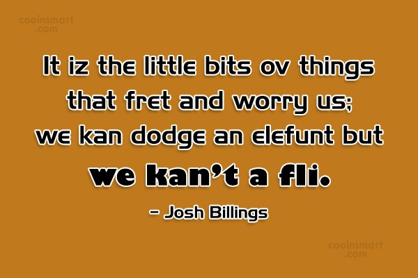 Quote: It iz the little bits ov things...
