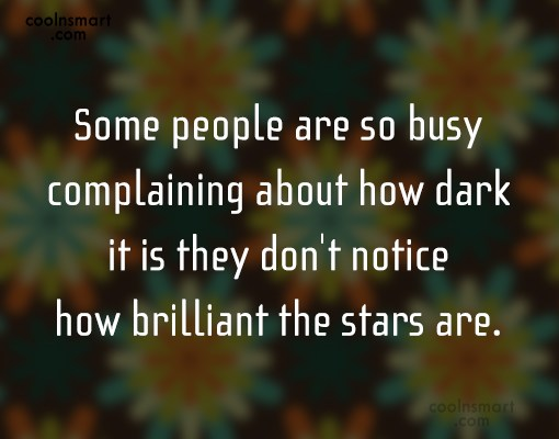 Quote: Some people are so busy complaining about...