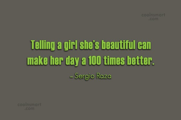 telling a girl shes beautiful