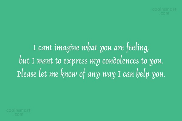 Quote: I cant imagine what you are feeling,...