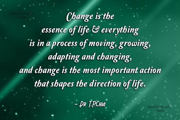 Unique Life Quotes About Change