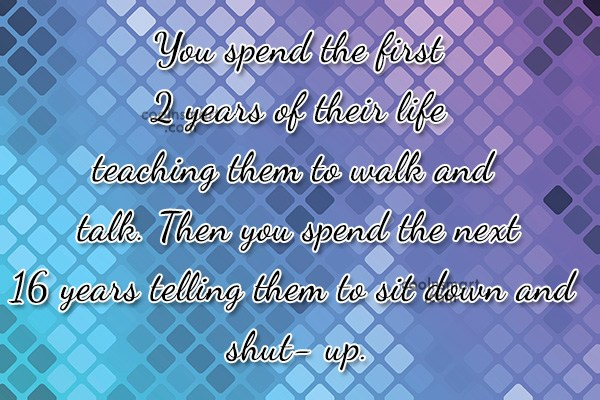 Baby Quote: You spend the first 2 years of...