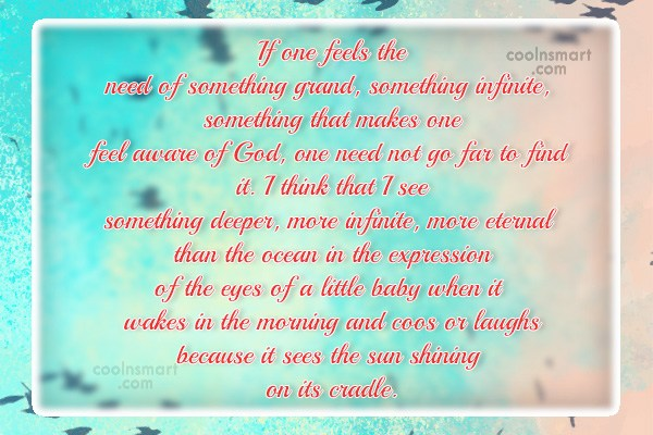Quote: If one feels the need of something...