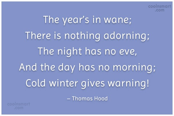 Autumn Quote: The year's in wane; There is nothing...