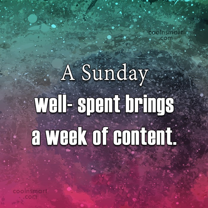 Sunday Quotes Sayings About Sunday Images Pictures Coolnsmart