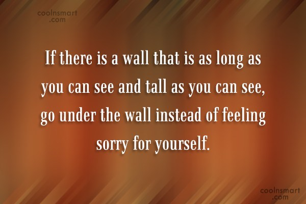 Quote: If there is a wall that is...